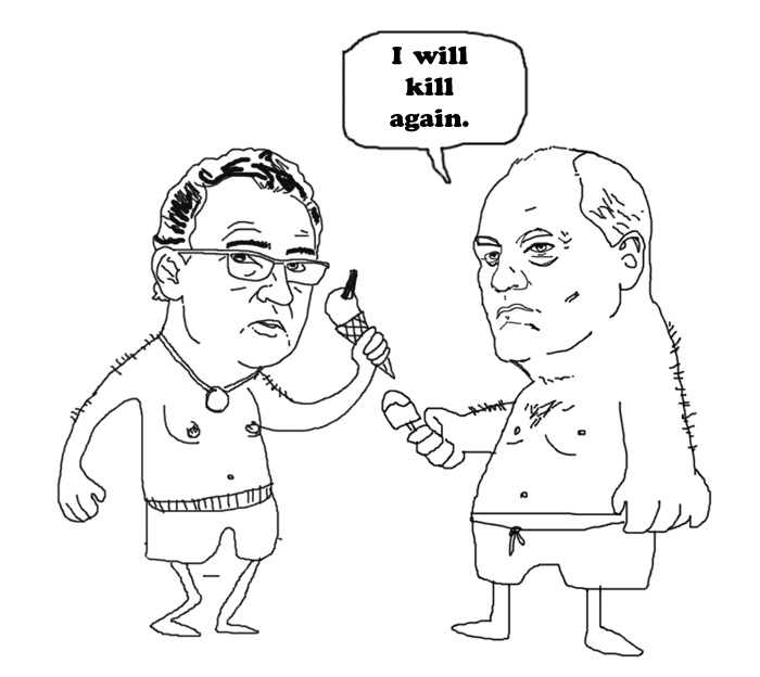 Martin O'Neill and Martin Jol.