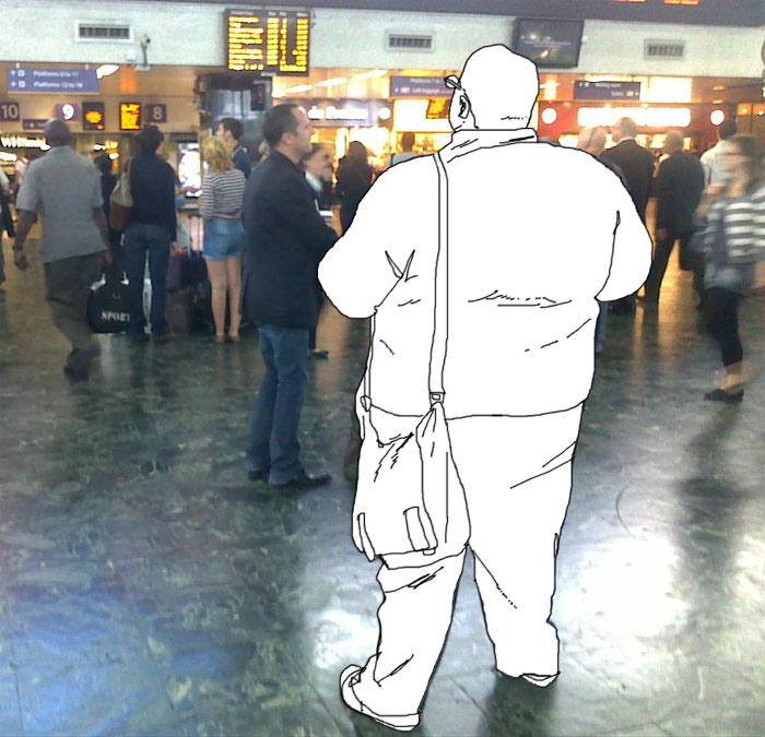 Invisible in Euston station.